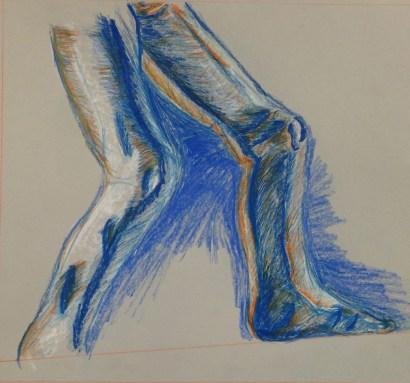 L. Sehringer, Anatomical Detail, Drawing Fundamentals, MassArt Summer Intensives, 2013
