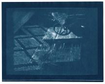 "Ottoman, cyanotype contact print of graphite drawing on vellum, 8"" x 10"", 2015"
