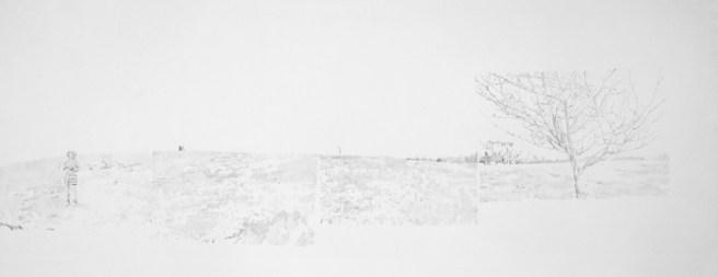"Panorama 8, graphite on paper, 11.25"" x 29.125"", 2012"
