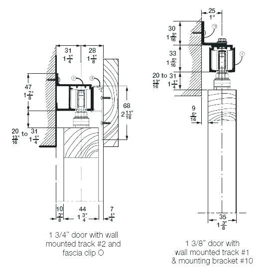 Acme Barn Door Hardware Installation Instructions