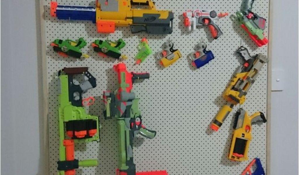 pegboard for nerf guns