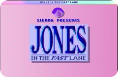 Jones In The Fast Lane Flash Game - Title