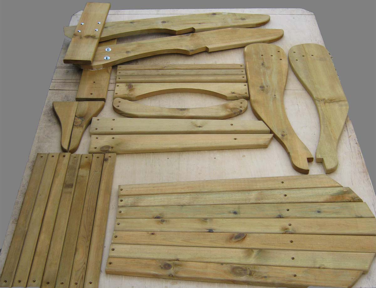 adirondack chair kit old dental alfresco furniture