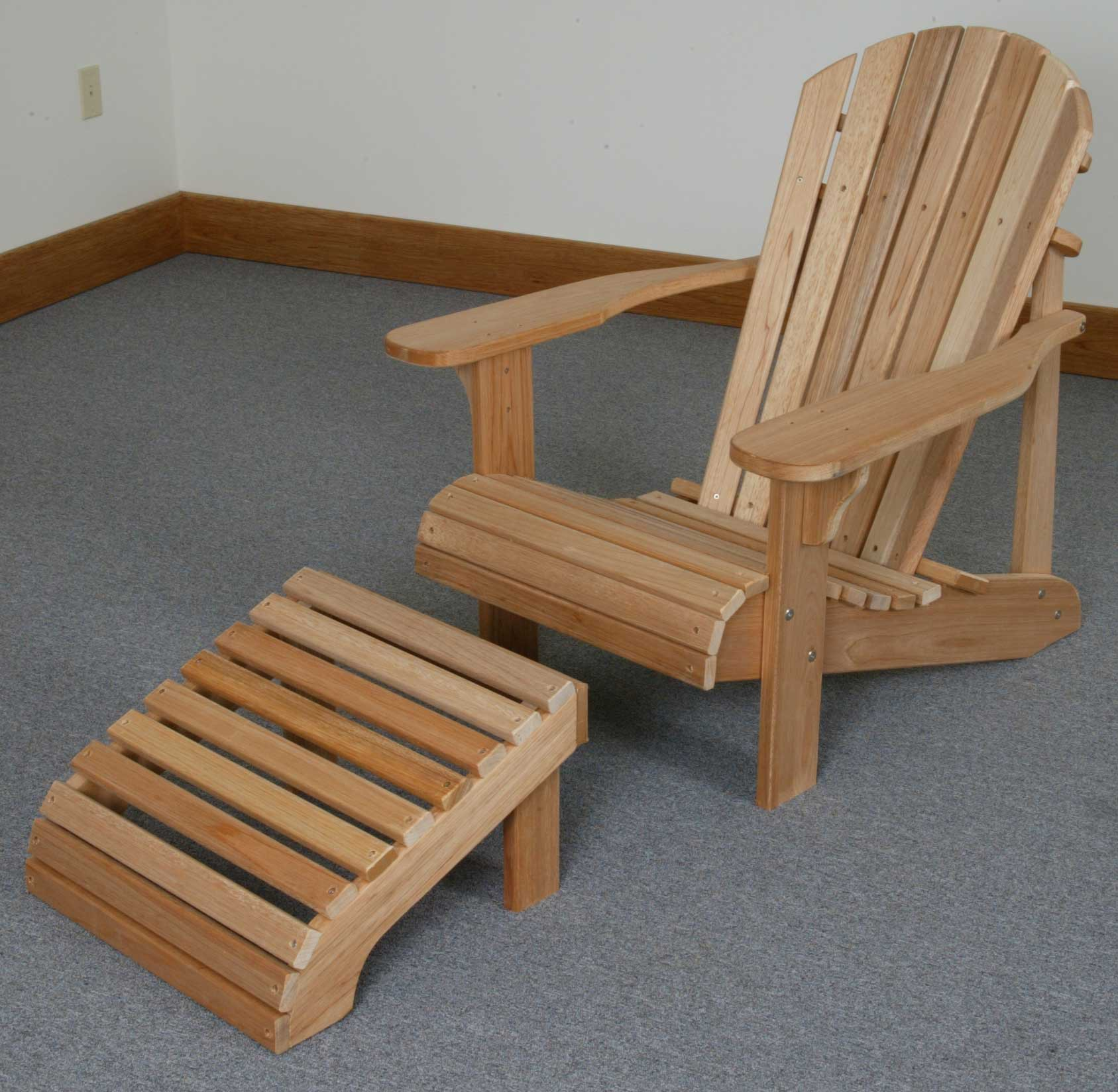 King Tables Folding Adirondack Chair with Ottoman