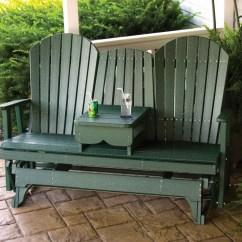 Poly Wood Adirondack Chairs Best Sleeper 2017 Crestville 5 Ft. Glider