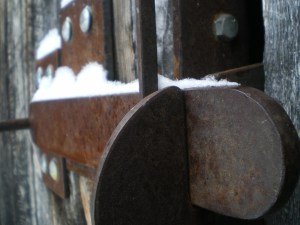 Wood shed latch