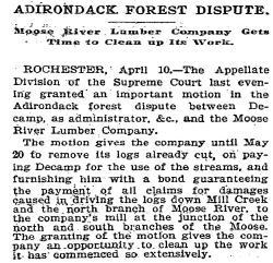Moose River Logging Navigation Case