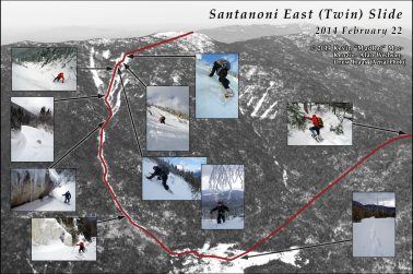 Santanoni Mountain Bushwhack with insets