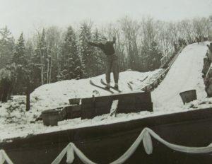 Ski Jumper at the Lake Placid Club c 1920 (Lake Placid Library)