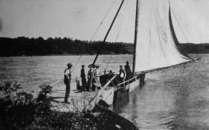 A Lake Champlain sail ferry (courtesy of the the Benson Museum, Benson, VT).