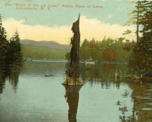 witch of 4th lake postcard