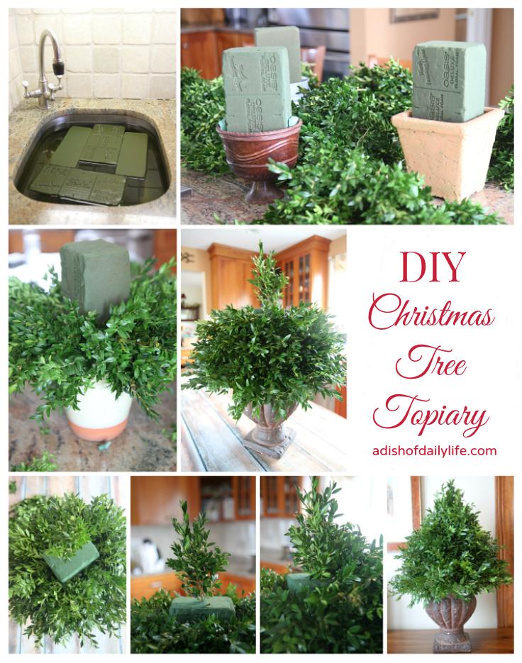 Christmas Topiary.Diy Christmas Tree Topiary