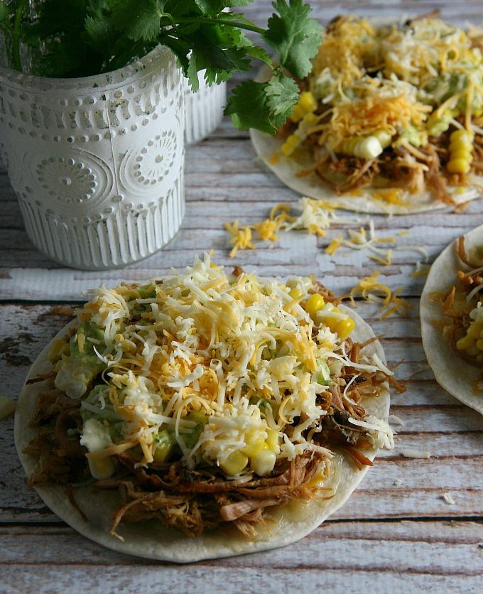 Pulled Pork Quesadillas with Tomatillo Guacamole - A Dish ...