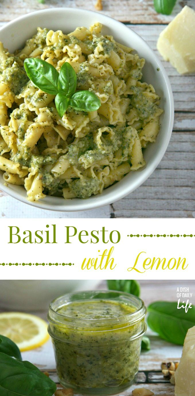 How to Make Pesto Sauce with Basil and Lemon (plus freezing tips!)