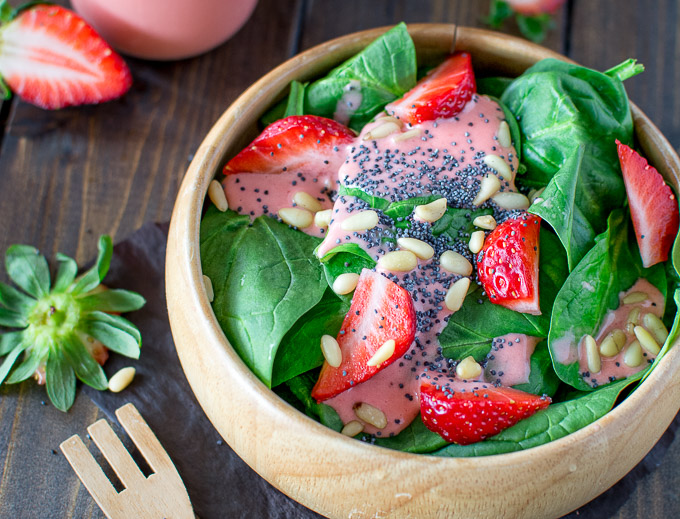 Spinach and Strawberry Salad | 17 Healthy Winter Salad Recipes To Beat Weight Gain