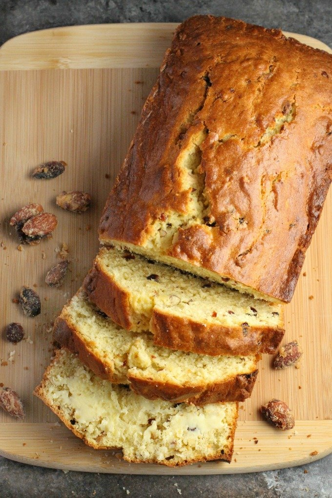 Cranberry Orange Almond Crunch Bread...delicious for snacking!