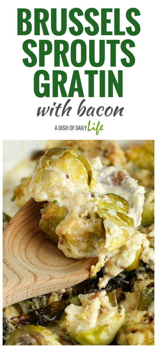 Brussels Sprouts Gratin with bacon...roasted brussels sprouts are ...