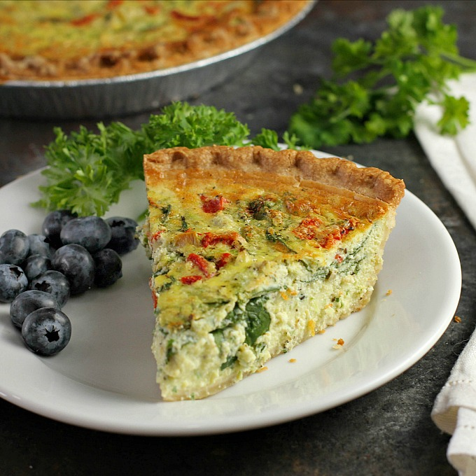 delicious, this Spinach Quiche with Artichokes and Roasted Red Peppers ...