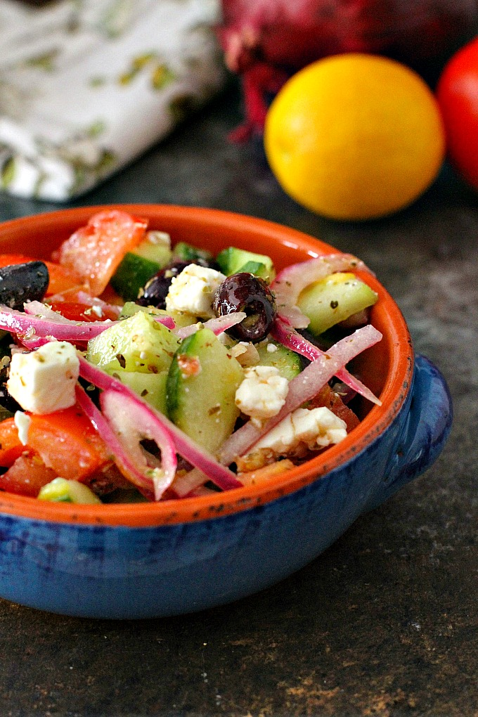 How To Make Greek Salad A Dish Of Daily Life