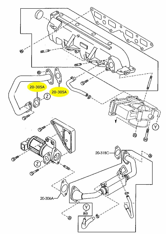 48.EGR Blanking Block Off Plate MAZDA 626,323,MPV,PREMACY