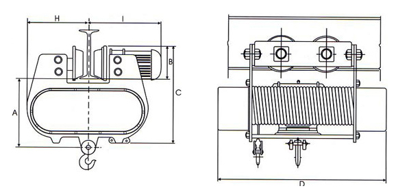 Wire Rope Hoists, Electric Wire Rope Hoist, Spur / Helical