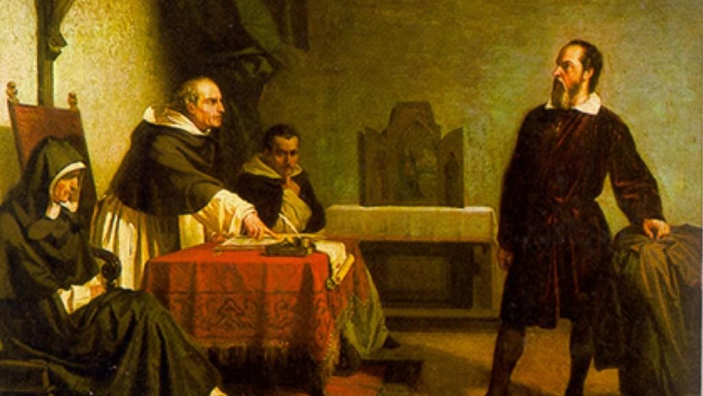 Galileo's trial for heresy by the Roman Catholic Church