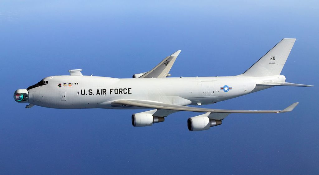 YAL-1A Airborne Laser with mirror unstowed