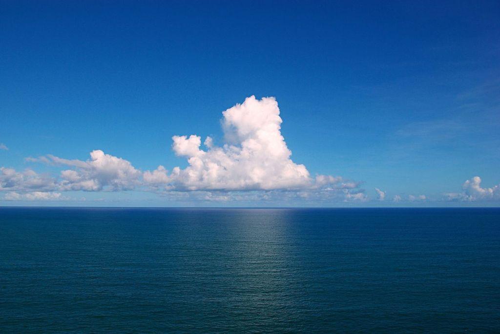 Cumulus clouds over the Atlantic Ocean