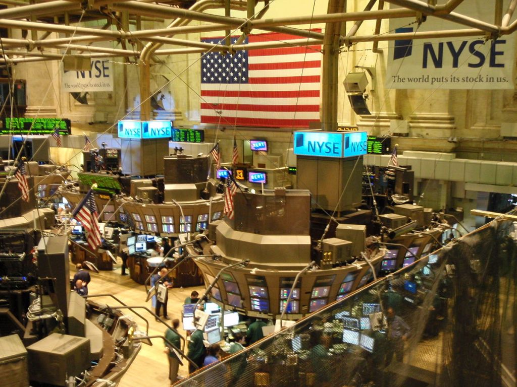 The trading floor of the New York Stock Exchange (NYSE) in the age of the internet.