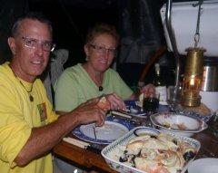 Sone crab feast on Tai Chi