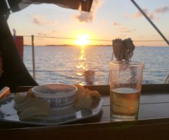Sundowners at Musha Cay