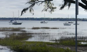 Tai Chi in the anchorage at Beaufort, SC