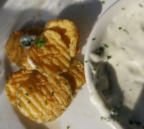 Fried dill pickles!