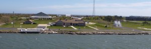 The Coast Guard Station - we heard the shouts of corporals training recruits each morning