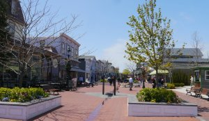 Lovely pedestrian mall in Cape May