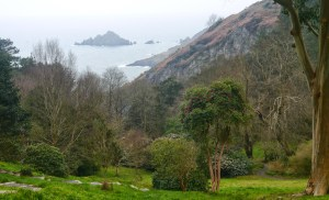 The view from the gardens at Coleton Fishacre