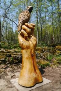 Endangered species carving