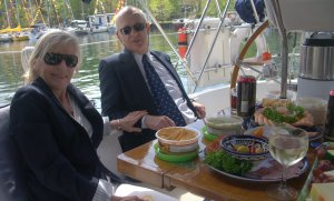 Sailpast feast - Steve and Charlotte