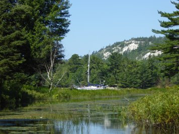 our boat from artists creek