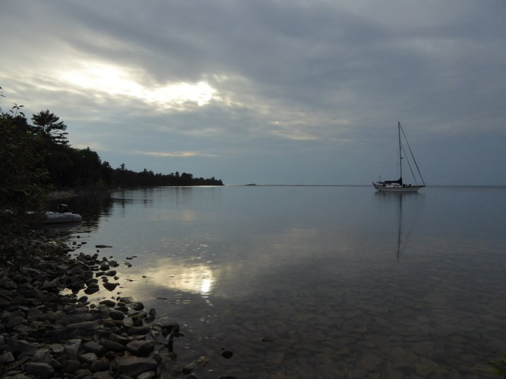 Anchored in East Grant Island