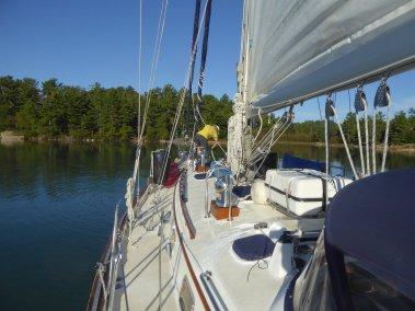 Leaving Thomas Bay