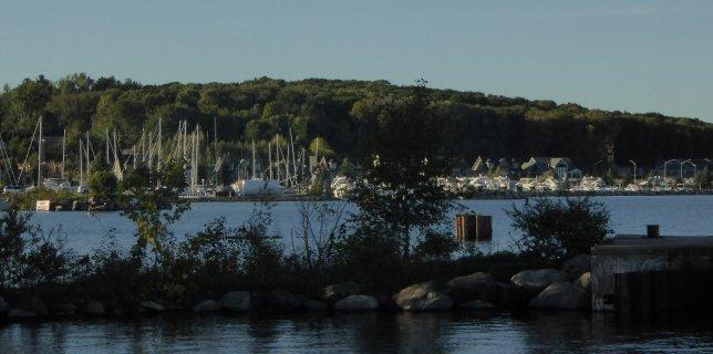 Looking across at Bay Shore Marina