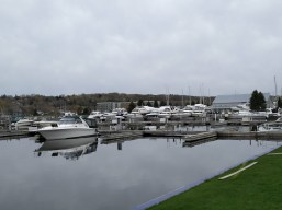 Bay Port Marina, quiet and bare with most boats on the hard still due to poor weather