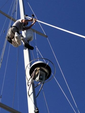 Steve up the mast...