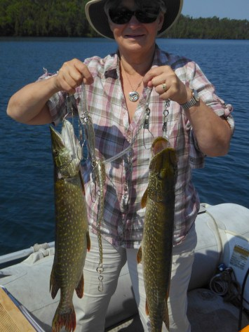 Liz with the pike catch
