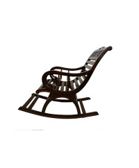 Buy Online Espresso Comfy Glider Wooden Rocking Chair