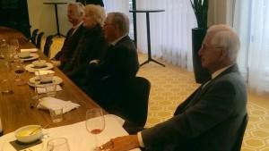 Van links naar rechts: Frans Andriessen, Catherine Andriessen, Ben Hennekam, Roelof Nelissen (Foto: Ad Lansink)