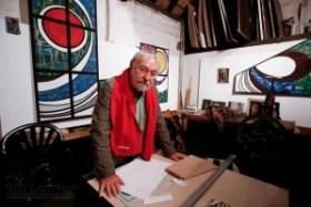Ted Felen in zijn atelier (2007), gefotografeerd voor 'Beeldspraak' door Ad Lansink (2007)