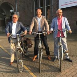 Ger Leenders, Leo Schrijver en Frans Zuidgeest, klaar voor de start (Foto: Ad Lansink)