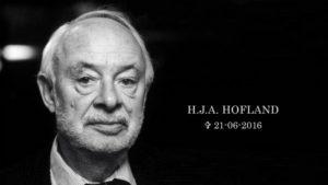 H.J.A. Hofland overleed op 21 juni 2016 op 88-jarige leeftijd (Bron: www.nos.nl)